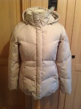 STUNNING CALVIN KLEIN BEIGE PADDED JACKET WITH HOOD UK SIZE S(8) WORND GOOD COND