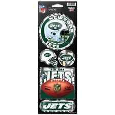"NEW YORK JETS OFFICIAL 10.5"" X 4"" PRISMATIC DECAL SET NEW FREE SHIPPING"