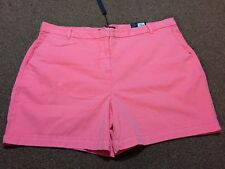 M&s Ladies Neon Pink Chinos Shorts Pants Size 16  Bnwt Free Same day P&p