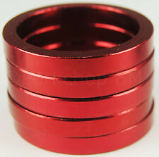 "Bicycle BMX or MTB headset spacers for 1 1/8"" threadless (SET of 5) 5mm - RED"