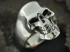 925er Argento Anello teschio gothic Teschio Anello Skull skullring Joker