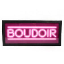 BOUDOIR Light Up Box UK Mains Plug 240v Pink Bedroom Metal Sign Retro