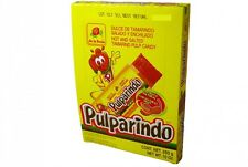 PULPARINDO de la Rosa, Hot and Salted Tamarind Pulp Candy, Mexican Candy, 20pcs