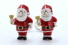 Deakin and Francis Silver & Enamel Santa Cufflinks Father Christmas