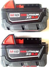 (2) New 18V Milwaukee 48-11-1850 5.0 AH Batteries M18 18 Volt XC 5.0 48-11-1852