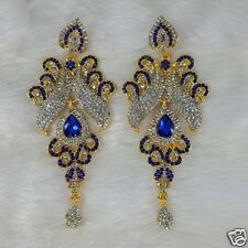 Gold Plated Kundan Designer Zerconic Bollywood Earrings Designer Jhumka Style