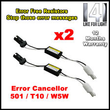 2 x T10 501 W5W CANBUS NO ERROR LED éclairage latéral résistances de charge