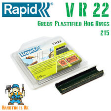 Rapid VR22 GREEN Plastified Hog Rings for  FP20 / FP222 Fence Pliers 215 Pack