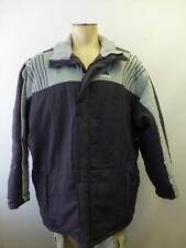 mens Adidas Football long dark gray thick Stadium winter lined 3 stripes Coat XL