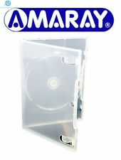 50 Single Standard Ecolite Clear DVD 14mm New Empty Replacement Amaray Case