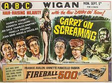 """Carry on Screaming 1966 16"""" x 12"""" Reproduction Movie Poster Photograph 2"""