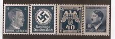 NAZI GERMANY Third 3rd Reich WW2 4 Pf Hitler Eagle Swastika stamps MNH