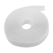 Hook And Loop Tape Strap Cable Ties Fastener White 15FT Self Adhesive Roll Wrap