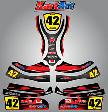 Arrow X1 Junior  full custom KART ART sticker kit THUNDER STYLE / graphics /