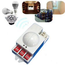 AC 220V 240V Microwave Motion Detector Radar Sensor Switch 5.8GHz For LED Light