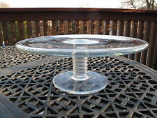 TIFFANY & Co. CRYSTAL GLASS MESA PEDESTAL CAKE STAND PLATE