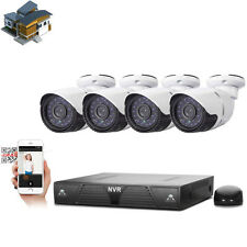 4CH 720P HD NVR Outdoor Security Night Vision Camera System IP P2P Plug & Play