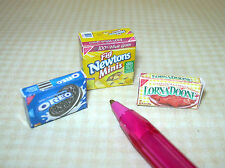 Miniature Cookie Box Assortment (3) DOLLHOUSE Miniatures 1/12 Scale