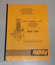Ersatzteilliste OMG Hochhubwagen 712 K Stand 03/1993