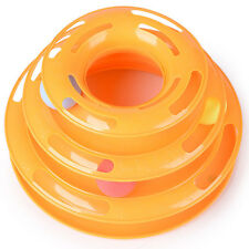 Funny Pet Cat Kitty Crazy Ball Disk Interactive Toy Amusement Plate Trilaminar