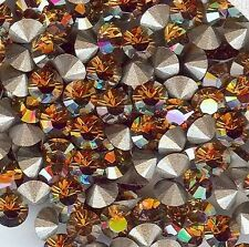 1028/SS29/CO***8 strass Swarovski  fond conique 6mm CRYSTAL COPPER F