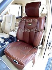 i - TO FIT AN AUDI A8 CAR, SEAT COVERS, YMDX BROWN, RECARO BUCKET SEATS