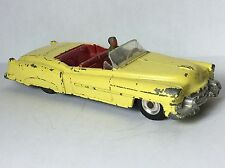 Vintage Dinky #131 Cadillac Eldorado Yellow With Red Interior And Driver