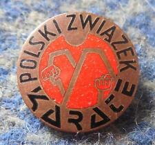 POLAND FEDERATION KARATE KYOKUSHIN KYOKUSHINKAI SHOTOKAN BRONZE VERS. 1980's PIN