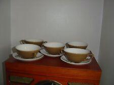 Midwinter Stylecraft Moda forma Sevilla Set 5 dos manipulado sopa de cuencos Retro