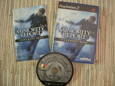 PLAYSTATION 2 PS2 MINORITY REPORT EVERYBODY RUNS