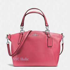 New Coach F36675 Small Kelsey Satchel In Pebble Leather Strawberry NWT