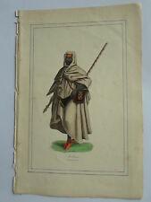 MEDINE costume ARABE BEDOUIN LITHOGRAPHIE originale du recueil  M.BOULGON 1860