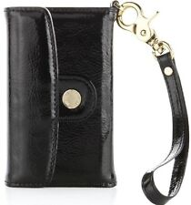 Pipetto London Luxury Handmade Genuine Leather iPhone 4 Wallet Case Black Gold