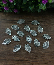 DIY18pcs Tibet silver Leaves Charm Pendant beaded Jewelry Findings 10x16mm