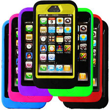 7 Colour Premium Impact Heavy Duty Case Cover for iPhone 5 w/ Screen Protection