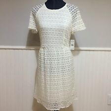 Women's Free People Candy Ivory Lace Vintage Inspired Mini Dress Size 8 NWT