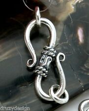 GORGEOUS HAND MADE SOLID STERLING SILVER FANCY CLASP 1.90grams