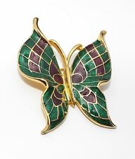Vintage signed TRIFARI TM enamel BUTTERFLY pin BROOCH costume jewelry figural