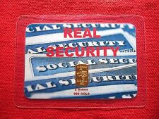 "2 grams GOLD TGR BULLION ""REAL SECURITY"" EDITION 999.9 Bar Sealed In Assay card"