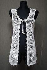 CONTAINER Damen Jacke XL / XXL tenna weiss Strickjacke Baumwolle Weste #24