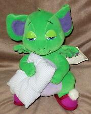 POCKET DRAGON ADVENTURES CUDDLES Russ Berrie BKN Sleepy NEW Green Pillow