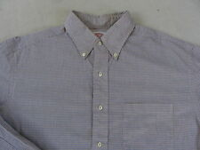 Brooks Brothers Men's L/S Button Down Yellow & Blue Checkered Shirt - 16.5-5