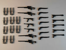 Guns for Lego Minifigures. Lot of 39 New!! Star Wars Lightsabers Weapons Knifes