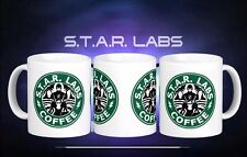 STAR Labs The Flash Starbucks Inspired Coffee Tea Gift Mug Cup New DC comics