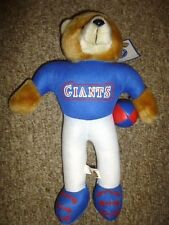 Vtg NEW YORK GIANTS Football NFL Uniform 12 Inch TEDDY BEAR Kids Toy CUTE Cool