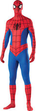 Spider-Man Adult Costume Skin Suit Unitard 2nd Skin Superhero Size Large