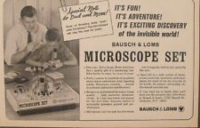 1965 Microscope Sets Science Kids Bausch & Lomb Kids~Boys Toy Promo Trade Ad