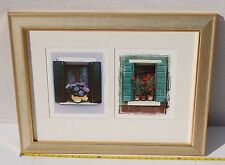 "PICTURE WINDOWS OF BURANO 21 1/2"" BY 28"" & FRAME 2 PRINTS IN ONE FRAME 0104616"