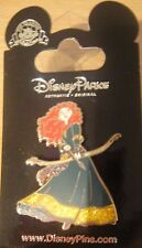 Disney/Pixar Brave-Princess Merida in Green+Gold Sparkling Dress Pin-NOC-#117822
