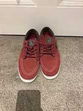 Mens Nike Stefan Janoski Lunar Trainer Size Uk 9 Suede In Great Condition Red